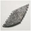 Rhinestone Hair Barrette 9 Row Stones Silver/crystal
